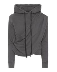 Unravel Project Gray Hoodie aus Baumwolle