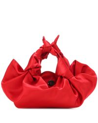 The Row Red Tote Ascot Small aus Satin