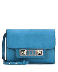 Proenza Schouler Blue Ps11 Mini Classic Leather Shoulder Bag