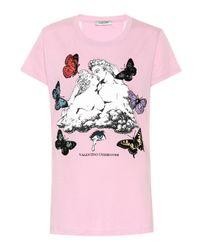 Valentino Pink X UNDERCOVER T-Shirt aus Baumwolle