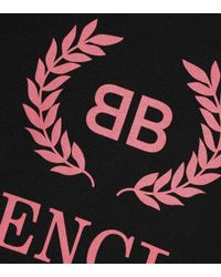 Balenciaga Black Bb Cotton T-shirt