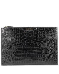 Clutch Antigona de piel efecto coco Givenchy de color Black