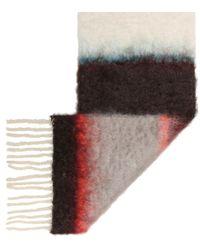Sciarpa a righe in mohair e lana di Loewe in Multicolor