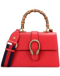 Gucci Red Dionysus Leather Shoulder Bag