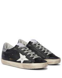 Zapatillas Superstar de piel Golden Goose Deluxe Brand de color Black