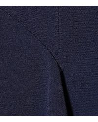 Stella McCartney Blue Asymmetric Crêpe Dress