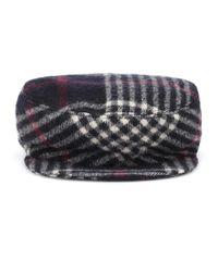 Isabel Marant Black Karierte Mütze Naly aus Wolle