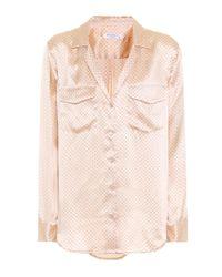 Equipment Pink Silk Shirt