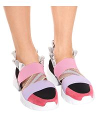 Emilio Pucci Pink Suede Sneakers