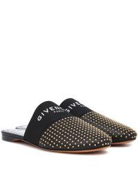 Slippers de piel Bedford Givenchy de color Black
