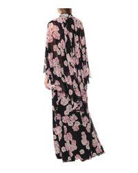 Robe longue en soie imprimée Giambattista Valli en coloris Black