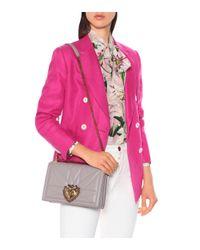 Sac à bandoulière Devotion Large en cuir Dolce & Gabbana en coloris Multicolor