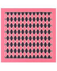 Gucci - Pink Printed Silk Scarf - Lyst