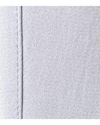 Prada Blue Feather-trimmed Satin Pyjamas