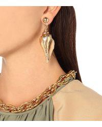 Jennifer Behr Metallic Neptune Shell Earrings