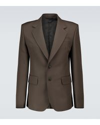 Lemaire Brown Slim-fit Single-breasted Blazer for men
