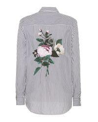 Equipment Multicolor Brett Striped Cotton Shirt