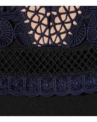 Self-Portrait Blue Minikleid aus Guipure-Spitze