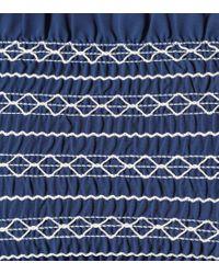 Top bikini Costa a fascia di Tory Burch in Blue
