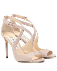 Jimmy Choo Pink Emily 100 Sandals