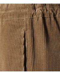 Brunello Cucinelli Brown Cropped-Hose aus Cord