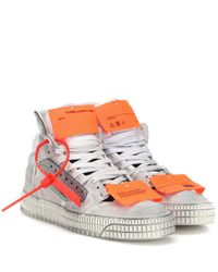 Off-White c/o Virgil Abloh White Off Court 3.0 Suede Sneakers