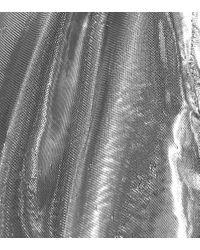 Top Kyama en mezcla de seda Isabel Marant de color Metallic