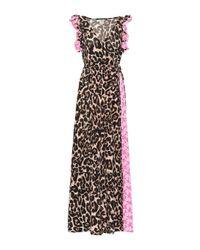 Baum und Pferdgarten Pink Exclusive To Mytheresa – Aiza Leopard And Floral Maxi Dress