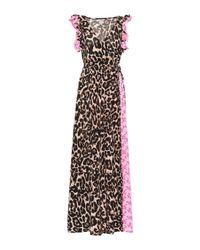 Exclusivo en Mytheresa - vestido largo Aiza estampado Baum und Pferdgarten de color Pink