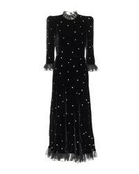 Vestido midi de terciopelo Philosophy Di Lorenzo Serafini de color Black