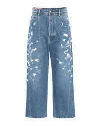 Jean ample à taille haute Blå Konst Acne en coloris Blue