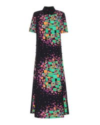 Gucci Multicolor Maxikleid aus Seide und Wolle