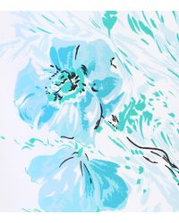 Prada Blue Exclusive To Mytheresa.com – Feather-trimmed Silk Skirt