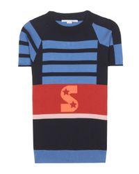 Top en laine mélangée Stella McCartney en coloris Multicolor