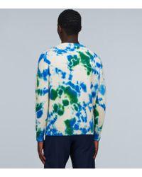 Pullover tie-dye in cashmere di The Elder Statesman in Blue da Uomo