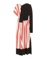Loewe Red Asymmetric Midi Dress