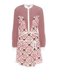 Mary Katrantzou Pink Ambrosia Printed Silk Dress