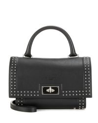 Givenchy - Black Shark Mini Leather Tote - Lyst