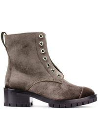 3.1 Phillip Lim Green Velvet Ankle Boots