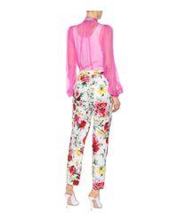 Pantalon en coton imprimé Dolce & Gabbana en coloris White