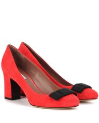 Tabitha Simmons Red Violet Suede Pumps