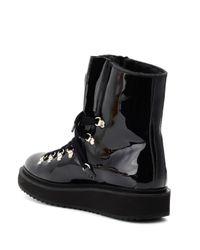 KENZO Black Boots Alaska aus Lackleder
