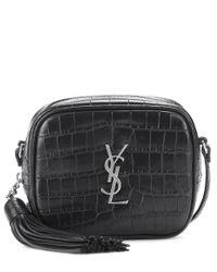 Saint Laurent Black Crossbody-Tasche Monogram Blogger