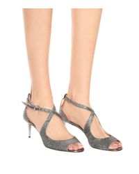 Jimmy Choo Metallic Emily 65 Glitter Sandals