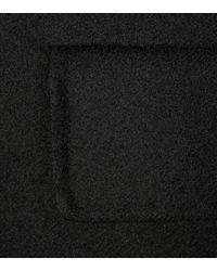 Manteau en laine Prada en coloris Black