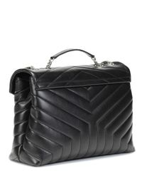 Saint Laurent - Black Loulou Leather Shoulder Bag - Lyst