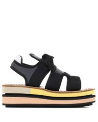Marni Black Platform Sandals
