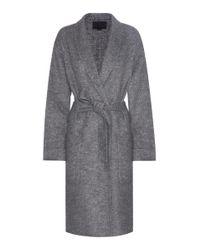 Alexander Wang - Gray Wool-blend Coat - Lyst