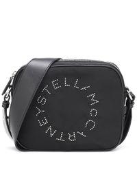 Stella McCartney Black Schultertasche Stella Logo