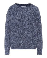 Vince Blue Wool, Cashmere And Silk Sweater
